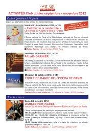 palais garnier - AROP, Association pour le Rayonnement de l'Opéra ...