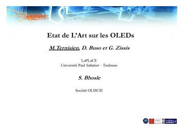 Les OLEDs : Introduction