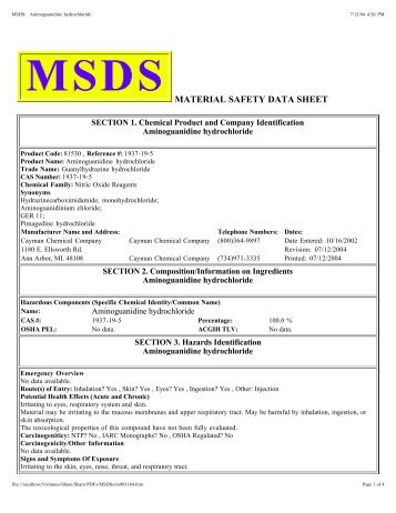 MSDS - Cayman Chemical