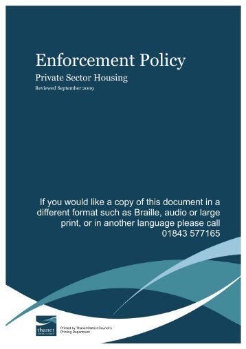 Enforcement Policy - Thanet District Council