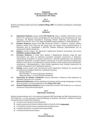 (i) (ii) - UPC Polska