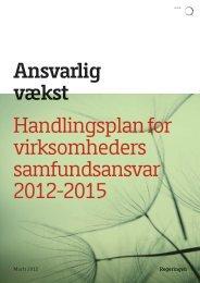 Ansvarlig vækst Handlingsplan for virksomheders samfundsansvar ...