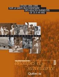 Étude 1994-1995 sur la santé buccodentaire des adultes québécois ...