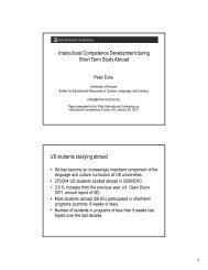 Intercultural Competence Development during Short Term Study ...