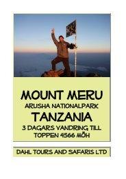 Tre dagar vandring Mount Meru - Dahl Safaris