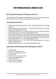 IZIN PEMBUANGAN LIMBAH CAIR - Pemerintah Kabupaten Asahan