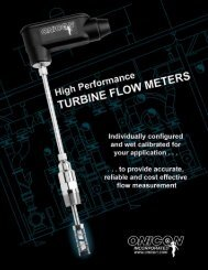 Turbine Flow Meter Brochure - Onicon