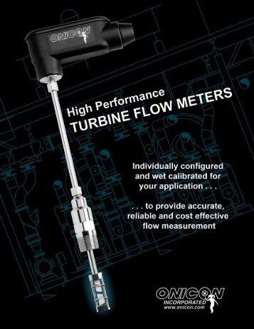 Turbine Flow Meter Brochure - Onicon