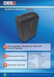 PAPER SHREDDER 20030 6 mm strokes, shreds one sheet A4 in to ...