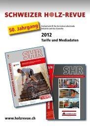 50. Jahrgang 2012 - SHR Schweizer Holz-Revue