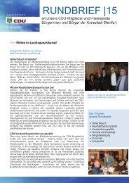 Rundbrief 15 - CDU Steinfurt