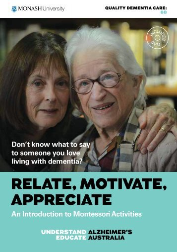 Relate, Motivate, Appreciate - Introduction - Alzheimer's Australia
