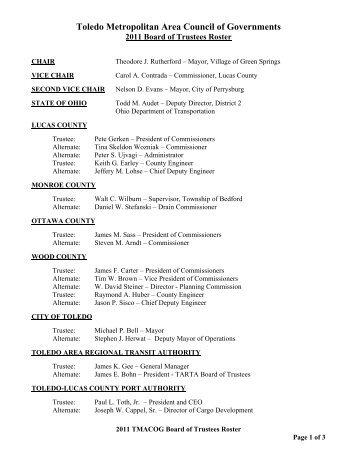 Toledo Metropolitan Area Council of Governments
