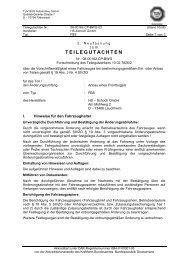 TEILEGUTACHTEN - HS Schoch
