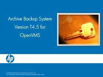 Archive Backup System Version T4.5 for OpenVMS