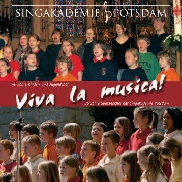Kinderchor Singakademie - Grundschule Caputh