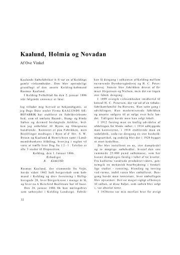 Kaalund, Holmia og Novadan