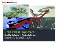 Grøn Vækst i Danmark - Realdania Debat