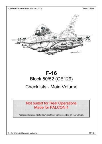 Block 50/52 (GE129) Checklists - Main Volume - e-HAF