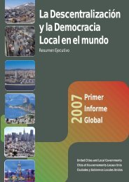 La Descentralización y la Democracia Local en el mundo - UCLG