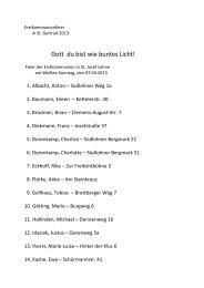 Erstkommunion 07.04.2013 - Weißen Sonntag - St. Josef