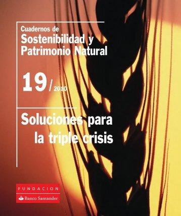 Soluciones para la triple crisis - Fundación Banco Santander