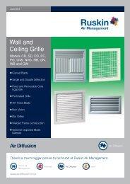 Wall & Ceiling Grilles - Air Diffusion