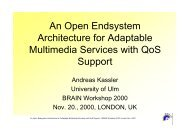 An Open Endsystem Architecture for Adaptable Multimedia ... - DIT