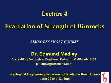 Lecture 5 - Bimrocks