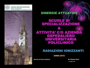 Radiazioni Ionizzanti - Università di Modena e Reggio Emilia