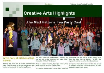 Creative Arts Highlights The Mad Hatter's Tea Party ... - Millennium