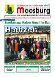 Sportanlage Kaiser Arnulf in Bau - Marktgemeinde Moosburg