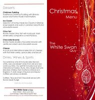 Christmas - The White Swan at Quy