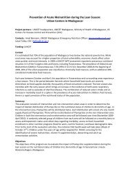 Prevention of Acute Malnutrition during the Lean ... - The iLiNS Project