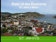 state of the economy mar 2013.pdf - City of St. John's