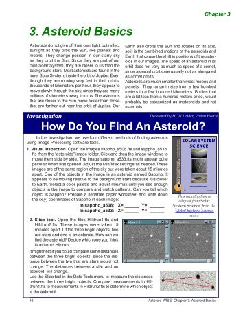 3. Asteroid Basics - Lawrence Hall of Science