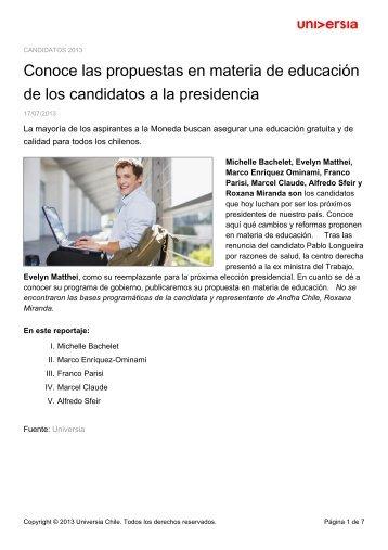 Conoce las propuestas en materia de educación de los candidatos ...