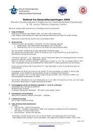 Referat fra generalforsamlingen 2009 (pdf) - Fagforum for ...