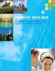 Eine Region. Unzählige Möglichkeiten (pdf  - Frankfurt am Main