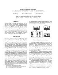 BUILDING IMAGE MOSAICS: AN APPLICATION OF ... - CiteSeerX