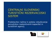 CENTRALNI SLOVENSKI TURISTIĆNI REZERVACIJSKI SISTEM