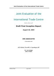 Final Inception Report - Joint Evaluation of the International Trade ...