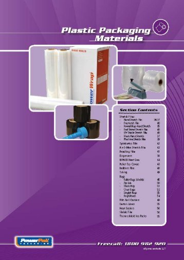 Plastic Packaging Materials (1.94MB) - PowerPak Packaging Supplies