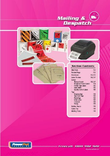 Mailing & Despatch - PowerPak Packaging Supplies
