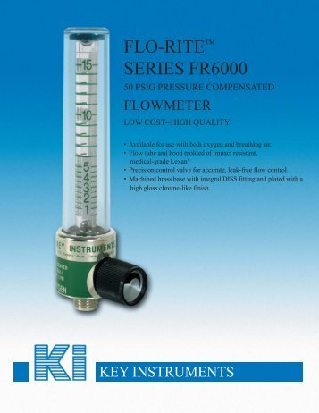 FLO-RITE™ SERIES FR6000 - Apex Instruments, Inc.