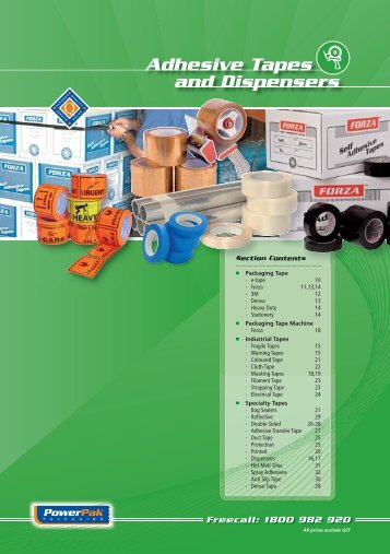 Adhesive Tapes And Dispensers - PowerPak Packaging Supplies