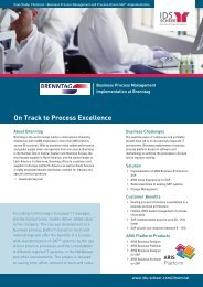 On Track to Process Excellence - Software AG