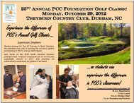 Experience the difference of PCC's Annual Golf Classic... ...so ...