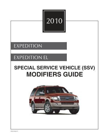 2010 Expedition SSV Modifiers Guide - MotorCraftService.com