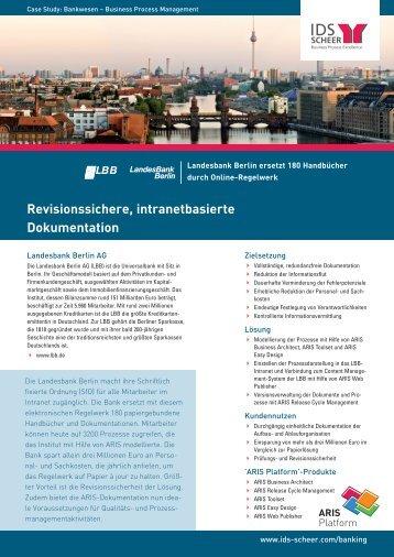Revisionssichere, intranetbasierte Dokumentation - IDS Scheer AG